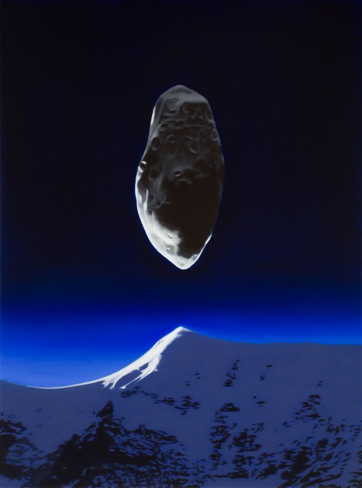Asteroid and mountain by Tony Lloyd