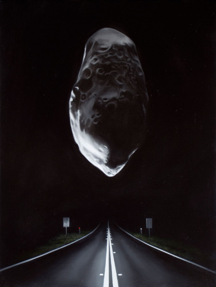 Highway with asteroid (Prometheus) by Tony Lloyd