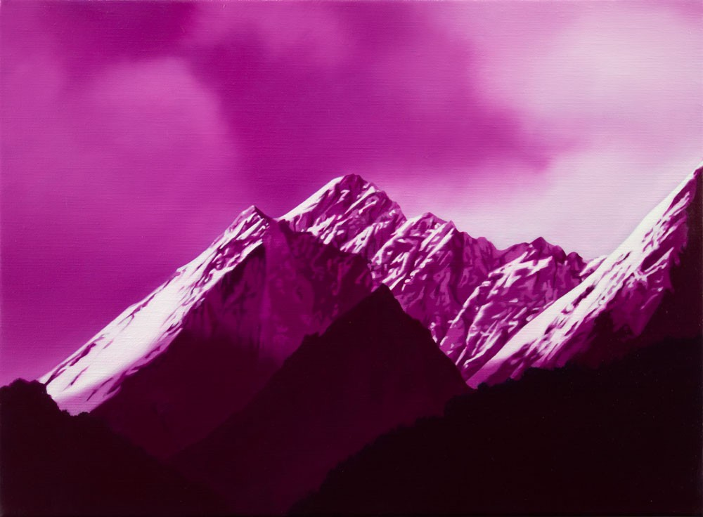 Pink mountains by Tony Lloyd