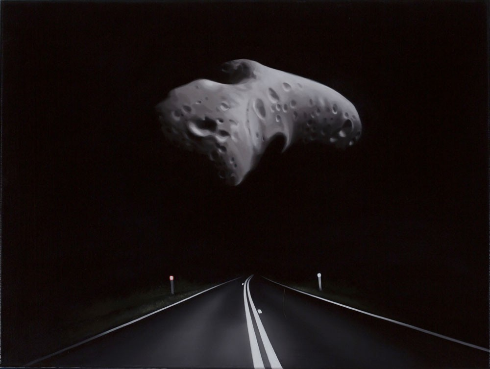 Near Earth Asteroid with Highway (Eros) by Tony Lloyd