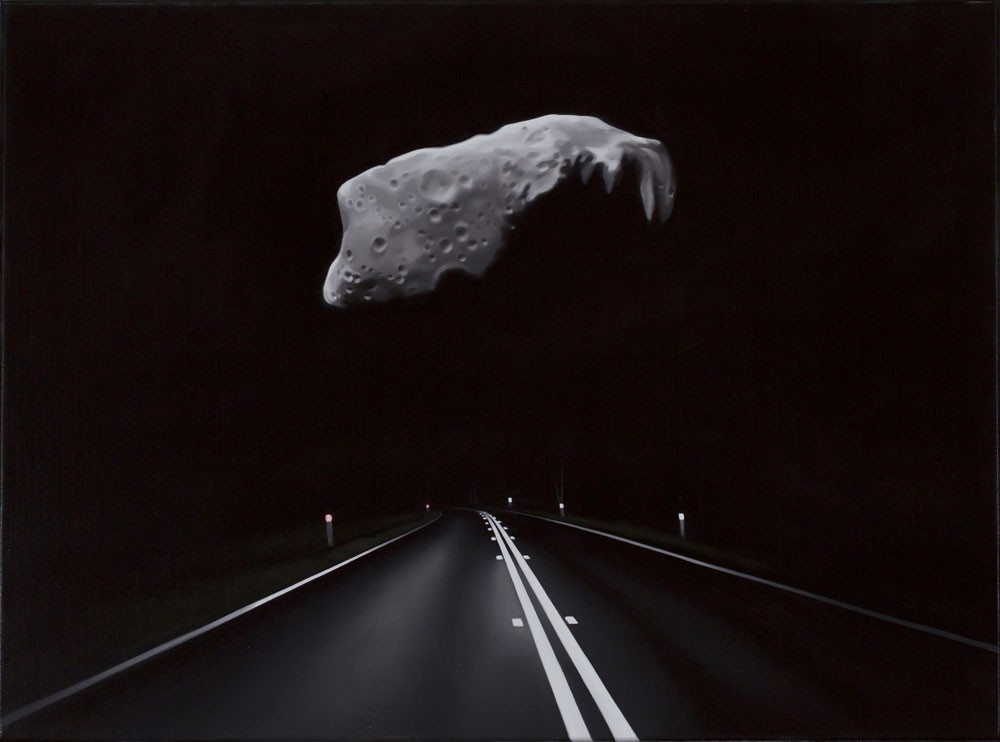 Near Earth Asteroid with Highway (Ida) by Tony Lloyd